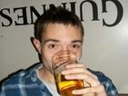 Paul Jones Drinking a Pint