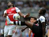 Alex Song and Shola Ameobi