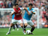 Mikel Arteta and Dong-Won Ji