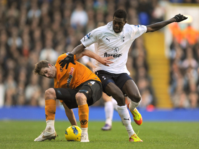 Emmanuel Adebayor and David Edwards