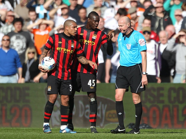 Mario Balotelli and Nigel De Jong