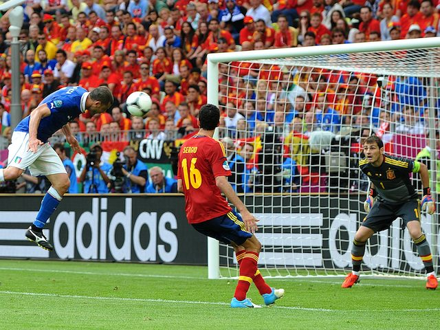 Thiago Motta and Iker Casillas