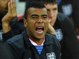 Ashley Cole shouting from the bench
