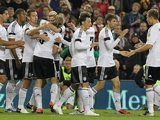 Germany celebrate their victory over Ireland