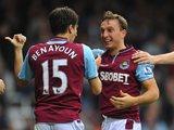 Mark Noble celebrates scoring for West Ham