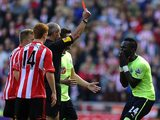 Cheick Tiote is sent off for Newcastle