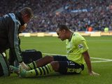 Gabriel Agbonlahor receives treatment