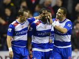 Noel Hunt, Mikele Leigertwood and Hal Robson-Kanu celebrate