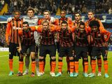 Shakhtar Donetsk team facing Chelsea