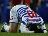 A frustrated Adel Taarabt down on the floor on November 17, 2012