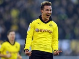 Mario Gotze celebrates his goal on November 17, 2012