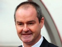 West Brom boss Steve Clarke looking pleased after his side go 2-0 up on November 24, 2012