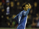 Wigan midfielder Jordi Gomez celebrates his strike against Reading on November 24, 2012