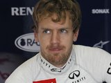 Sebastian Vettel in his team's pit on November 23, 2012