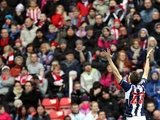 Zoltan Gera opens the scoring for West Brom on November 24, 2012
