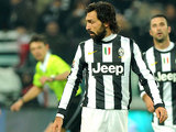 Juventus' Andrea Pirlo looks away after missing a penalty in the match against Torino on December 1, 2012