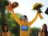 Bradley Wiggins wins the Tour De France on July 22, 2012