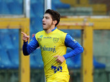 Chievo Verona's Alberto Paloschi celebrates after scoring against Genoa on December 2, 2012