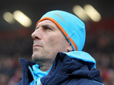 Marseille coach Elie Baup on the touchline on December 2, 2012