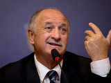 New Brazil coach Luiz Felipe Scolari speaks to the media on November 29, 2012