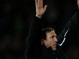 Cardiff City's manager Malkay Mackay celebrates after beating Sheffield Wednesday on December 2, 2012