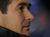 Close up of Derby manager Nigel Clough on December 1, 2012