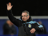 Aston Villa manager Paul Lambert on the touchline on December 1, 2012