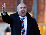 Burnley manager Sean Dyche on the touchline during the match against