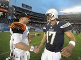 Andy Dalton and Philip Rivers shake hands on December 2, 2012