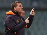 Liverpool manager Brendan Rodgers instructs his team on December 6, 2012