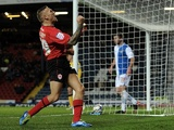 Craig Bellamy celebrates his goal against Blackburn on December 7, 2012