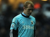 Swansea keeper Gerhard Tremmel after conceding three before half-time against Norwich on December 8, 2012