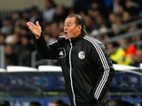 Schalke manager Huub Stevens on the touchline on December 4, 2012