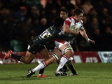 Ken Pisi tackles Ulster's Iain Henderson during a Heineken Cup match on December 7, 2012