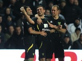 Robert Snodgrass celebrates the fourth Norwich goal against Swansea on December 8, 2012