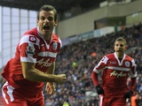QPR's Ryan Nelson celebrates his equaliser against Wigan on December 8, 2012