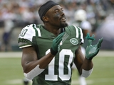 New York Jets' Santonio Holmes on September 30, 2012