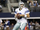 Tony Romo in action for the Dallas Cowboys on December 2, 2012