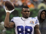 Cowboys' Dez Bryant before a game with the Bengals on December 9, 2012