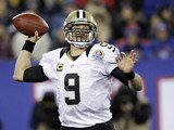 Drew Brees of the New Orleans Saints on December 9, 2012