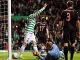 Celtic's Gary Hooper celebrates scoring his team's second goal on December 15, 2012