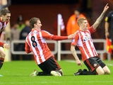 Sunderland winger James McClean celebrates his early strike versus Reading on December 11, 2012