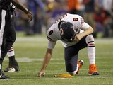 Jay Cutler of Chicago Bears is struck down on December 9, 2012