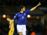 Birmingham's Nikola Zigic celebrates his goal against Palace on December 15, 2012