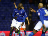 Birmingham City's Papa Bouba Diop celebrates scoring the equaliser on December 15, 2012