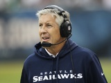 Seattle Seahawks coach Pete Carroll during the game with Chicago on December 2, 2012