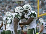 Shonn Greene and Bilal Powell of the New York Jets on December 9, 2012