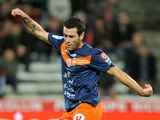 Montpellier's Cyril Jeunechamp in action against Nancy on October 29, 2011