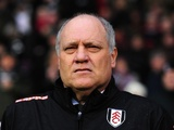 Fulham manager Martin Jol in the dugout in the game with Southampton on Boxing Day 2012