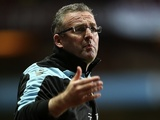 Villa boss Paul Lambert gestures from the touchline in the game with Spurs on Boxing Day 2012